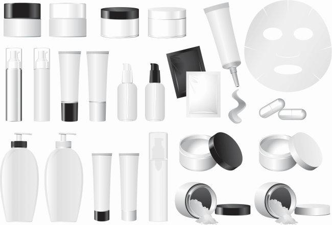空白化妆品包装矢量素材