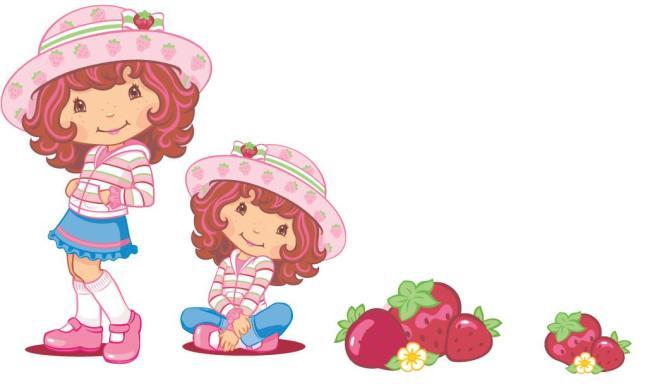 卡通草莓 卡通形象 韩国卡通 韩国女孩 卡通女孩 可爱卡通 卷发 美女
