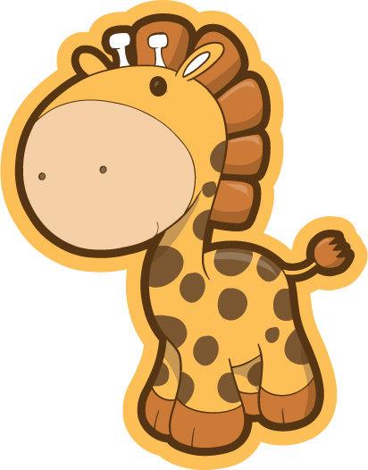 卡通长颈鹿标志logo设计免费下载_格式:eps(图片编号