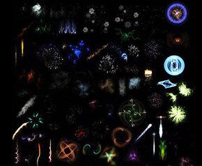 炫彩光芒背景矢量素材