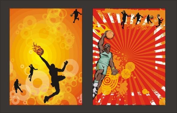 篮球赛海报模板