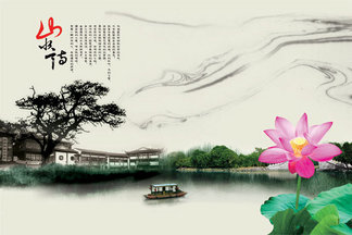 <i><i><i><i>水</i></i></i></i><i><i>墨</i></i><i><i>江</i></i><i><i>南</i></i>美景图<i>PSD</i><i>分</i><i>层</i><i>素</i><i>材</i>