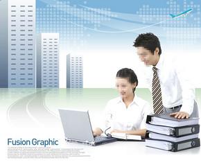 商务科技psd设计模板下载科技背景图