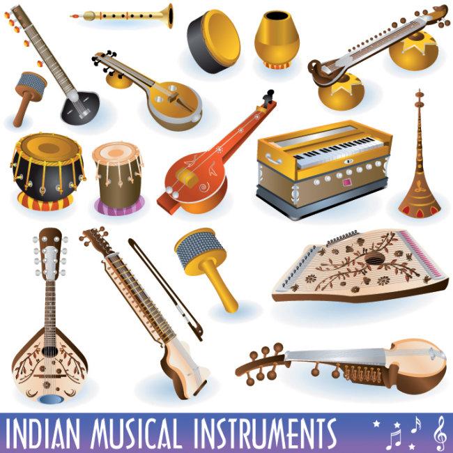 乐器矢量图 琴 吉他 少数民族乐器