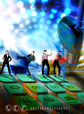 商务科技PS素材 合成通讯