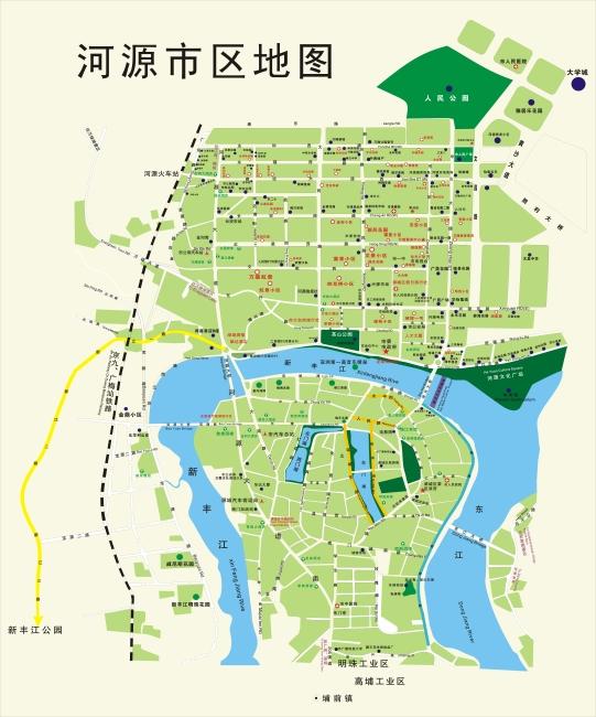 广东省河源市市区地图