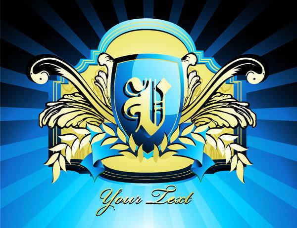 欧式花纹 盾牌 logo素材