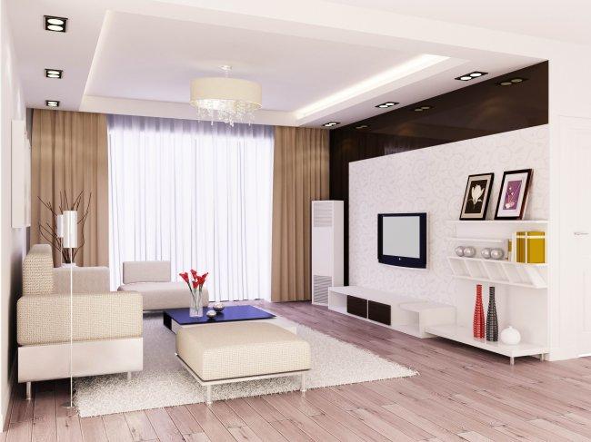 客厅现代简约装修效果图欣赏-zhaungxiu