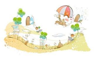 韩国卡通背景图案