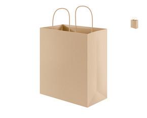 牛皮纸手提袋模板