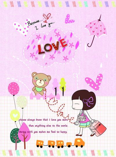 本本 本本设计 卡通元素 可爱元素 日记本 女孩 美女 小女孩 记事本