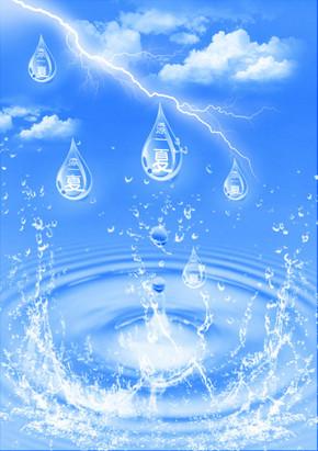 水 水珠 水纹 水滴 波浪 波纹
