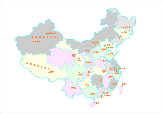 矢量中国地图 可编辑地图素材
