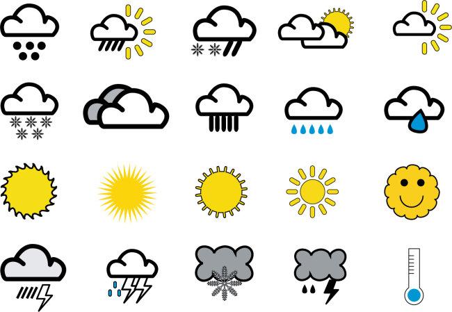 天气图标  标识标志图标雷电矢量图标素材太阳天气天气图标天气预报