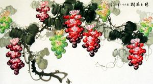 高清葡萄国画 中国风设计素材