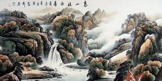 高山流水锦秀河山图