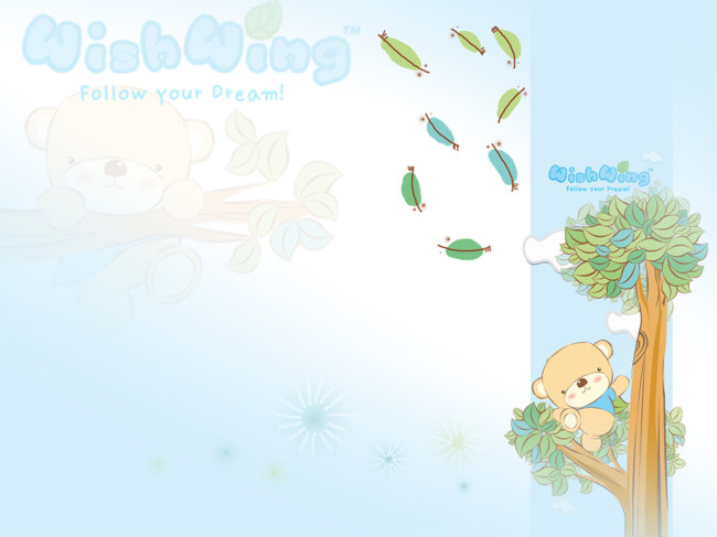 卡通背景素材 儿童模板
