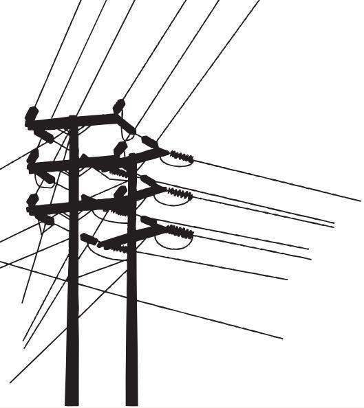 电线杆矢量图片