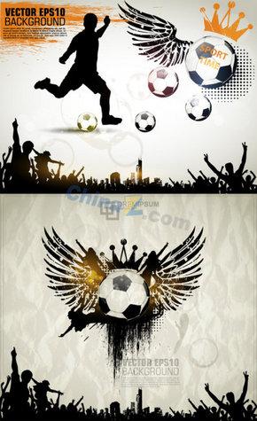 创意足球海报矢量素材免费下载