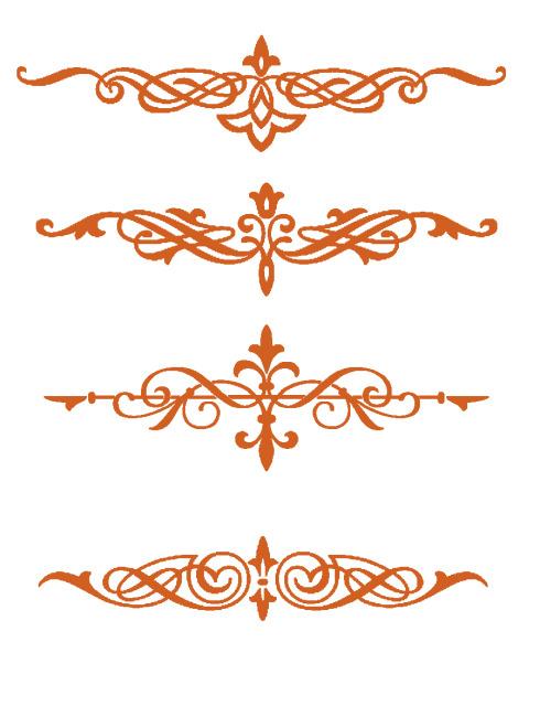 复古 花纹 气质 素材 欧式花纹 psd 白色
