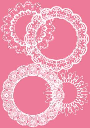 蕾丝花边花纹—矢量素材
