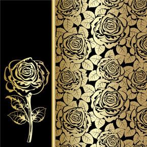 金色玫瑰背景