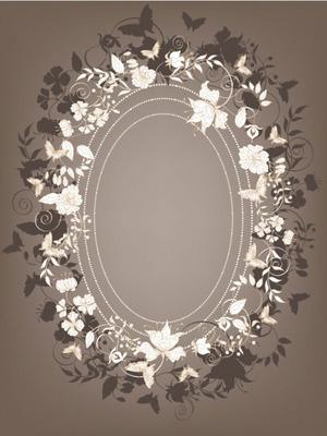 华丽欧式复古花纹背景素材