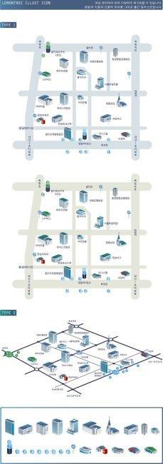 城市规划鸟瞰图矢量素材