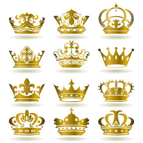 矢量素材多款欧式王冠图片