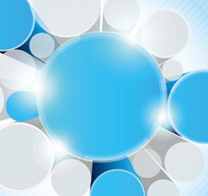 矢量素材蓝色立体梦幻3D背景
