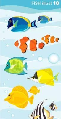 矢量海底鱼素材