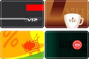 矢量素材购物会员卡背景