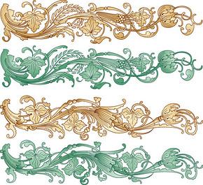 矢量中国风传统图案花纹