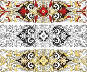 矢量素材中国传统古典图案花纹