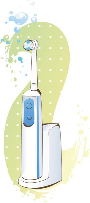 手绘电器 卡通电器 电动牙刷 家用 矢量素材 eps