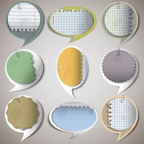 留言贴纸设计元素矢量图