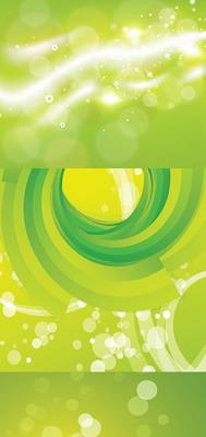 绿色梦幻背景素材矢量图