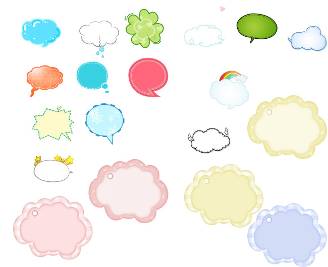气泡 对话框 卡通 说说
