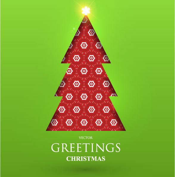 矢量素材圣诞树背景
