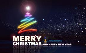 精美绚丽圣诞星空海报PSD