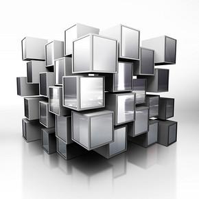 立体方块PSD素材