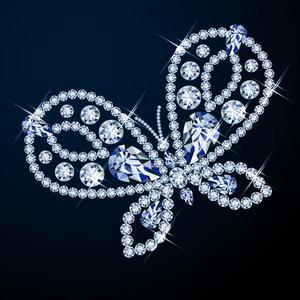矢量钻石耀眼蝴蝶图片素材