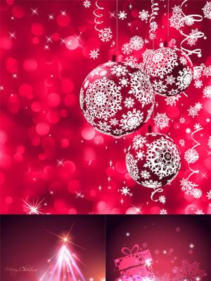 圣诞红色炫彩背景