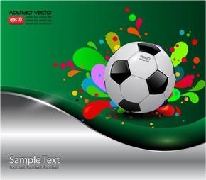 矢量潮流足球体育海报设计