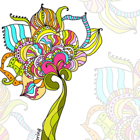 手绘荷花 底纹背景 纹样 线条 莲蓬 花瓣 绚丽花纹背景图片素材