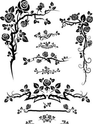 欧式复古花纹边框矢量图