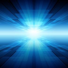 科技炫光蓝色背景矢量图