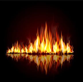 矢量火焰素材图片背景