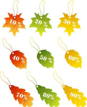 矢量秋季元素吊片素材