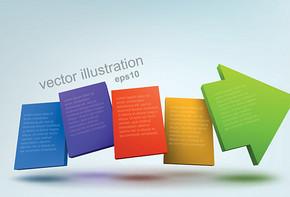 矢量彩色创意箭头图片素材